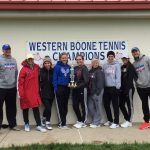 Western Boone High School Girls Varsity Tennis finishes 1st place