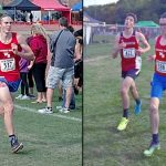 Collier and Dukes at Cross Country Semi-State