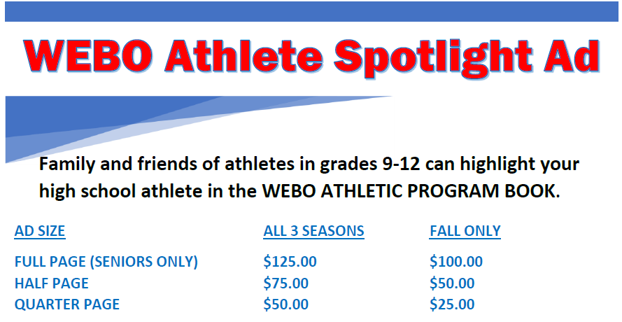 Webo Athlete Spotlight Ads