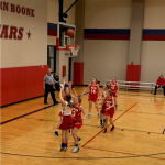 7/8th Girls' Basketball in action
