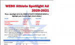 Webo Athlete Spotlight Advertisement
