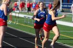 Boys and Girls track team splits with Danville
