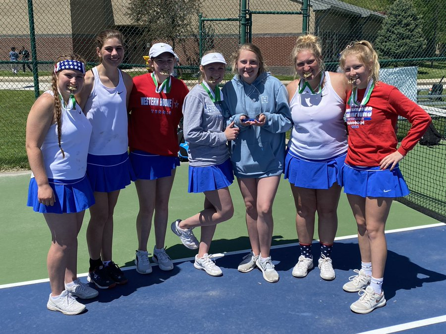 Girls Tennis team places 1st at Covenant Christian Invitational