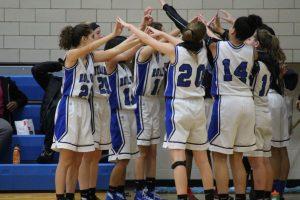 JV Girls Basketball vs. Milford 12-6-16
