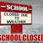 School cancelled Monday Dec 12 due to Weather: No School = No Practice or Games