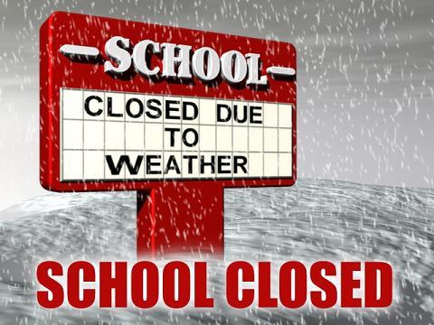School closed T Feb 12 due to Weather: No School = No Practice or Games