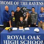 Royal Oak Baseball Senior Sean Marshall signs with Lawrence Tech University!