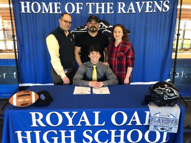 Royal Oak Football Senior Esteban Leija signs with St. Xavier University!