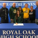 Royal Oak Basketball Senior Samantha Potter signs with Northern Michigan University!
