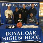 Royal Oak Basketball Senior Jessica Adams signs with Macomb Community College!