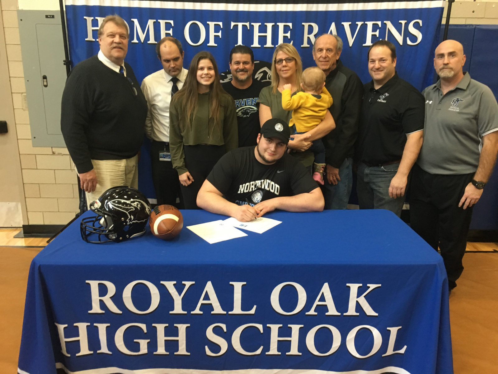 Royal Oak Football Senior Cody Remick signs with Northwood University!