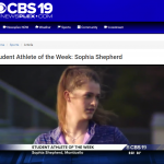 Shepherd is Newsplex Student-Athlete of the Week