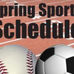 Spring Sports Schedules – 2019-20