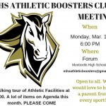 Walking Facilities Tour part of March 11 Athletic Boosters Club Meeting