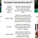 Field Hockey Clinic Opportunity on July 27