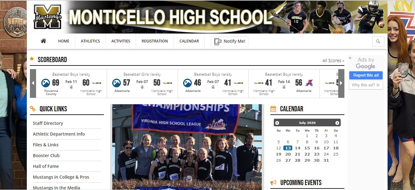 Visit www.GoMonticello.org for Athletics Information