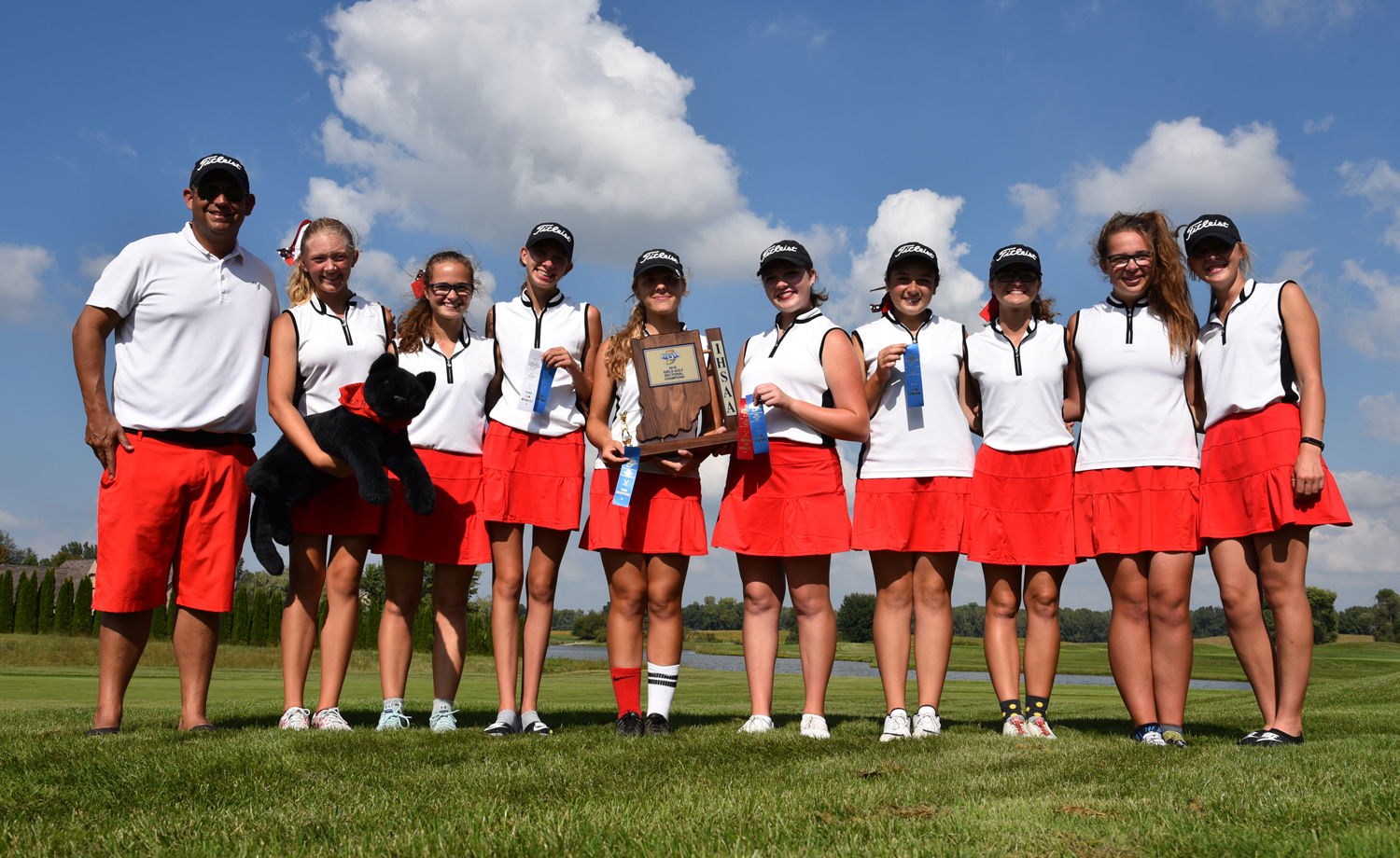 Girls Golf earns trip to IHSAA State Finals!!