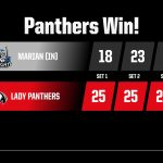 Girls Varsity Volleyball beats Marian 3 – 0