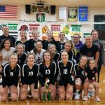 Girls Varsity Volleyball beats Concord 2 – 0 to win Concord Tourney!