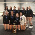 Girls Junior Varsity Volleyball beats Warsaw 2 – 1 to Win The Dunes Tourney!