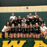 Girls Varsity Volleyball beats Wawasee 3 – 0 to win conference!