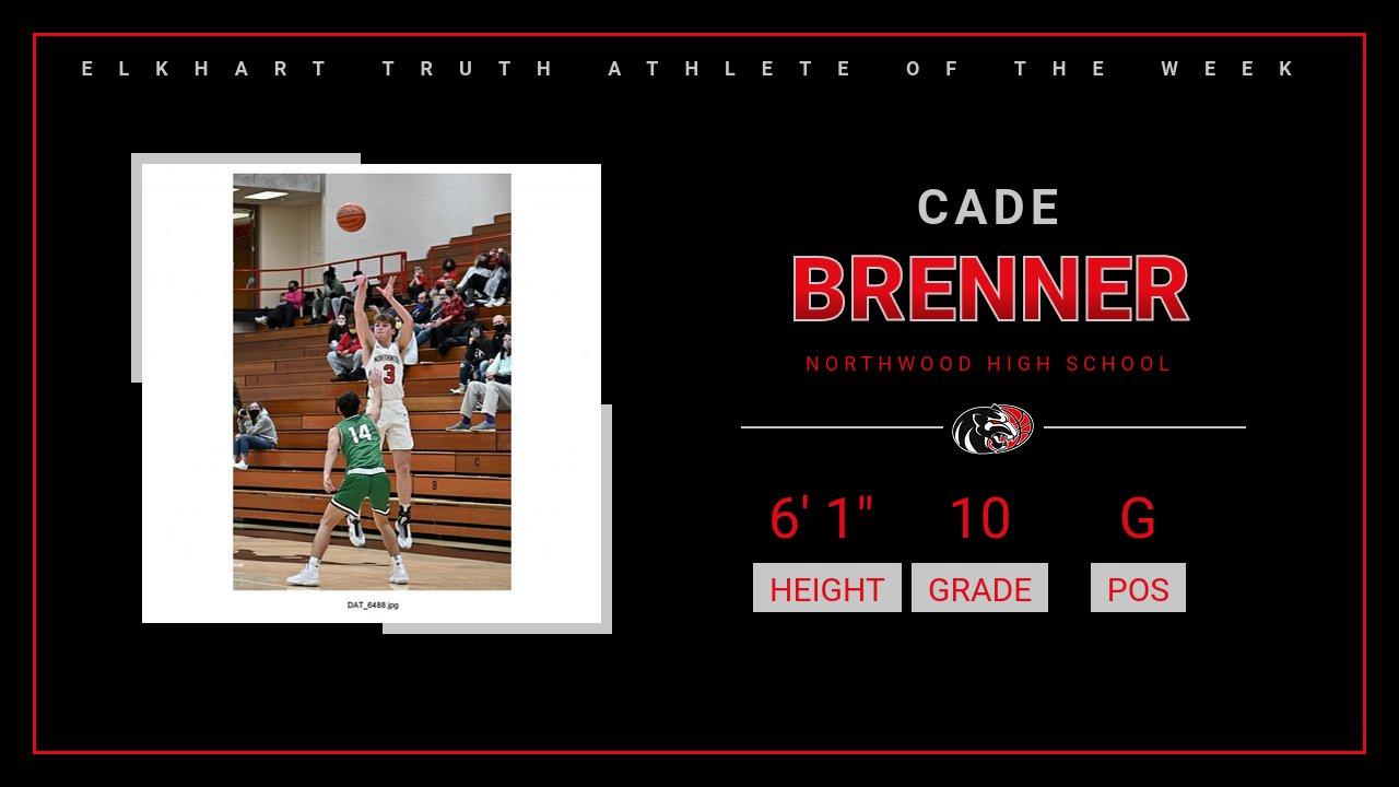 Cade Brenner named Elkhart Truth Athlete of the Week!