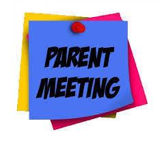 Fall Parent Night Meeting notes