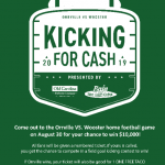 Kicking Contest at the Orr vs Woo football game