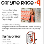 Softball Senior Spotlight –  Caryne Race