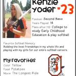 Softball Senior Spotlight – Kenzie Yoder