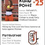 Softball Senior Spotlight – Katie Potts