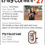 Softball Senior Spotlight – Emily Contini