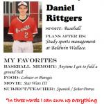 Baseball Senior Spotlight –  Daniel Rittgers
