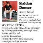 Baseball Senior Spotlight – Kaidan Domer