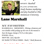 Baseball Senior Spotlight – Lane Marshall