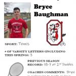Tennis Senior Spotlight – Bryce Baughman