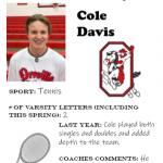 Tennis Senior Spotlight – Cole Davis