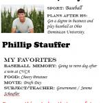 Baseball Senior Spotlight – Phillip Stauffer