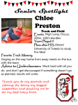 Girls Track and Field Senior Spotlight – Chloe Preston