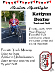 Girls Track and Field Senior Spotlight – Katlynn Dexter