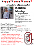 Girls Track and Field Senior Spotlight – Kendra Mosley