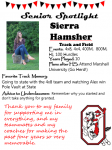 Girls Track and Field Senior Spotlight – Sierra Hamsher