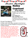 Girls Track and Field Senior Spotlight – Hailey Copeland