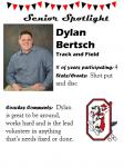 Boys Track and Field Senior Spotlight – D. Bertsch