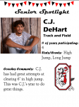 Boys Track and Field Senior Spotlight – C. Dehart
