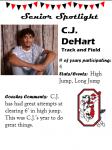 Boys Track and Field Senior Spotlight – C. Dehart