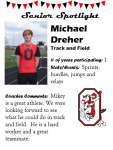 Boys Track and Field Senior Spotlight – M Dreher
