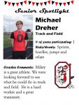 Boys Track and Field Senior Spotlight – M Dreher