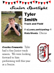 Boys Track and Field Senior Spotlight – T. Smith
