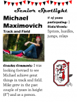 Boys Track and Field Senior Spotlight – M. Maximovich